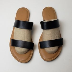 Old Navy Two Strap Black Sandals